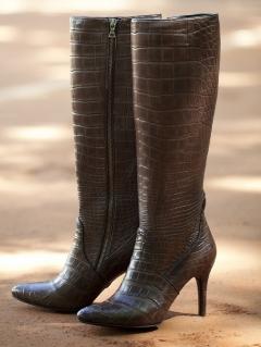 Сапоги женские из кожи крокодила