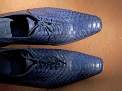 Туфли мужские из кожи питона