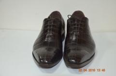 Туфли мужские из кожи крокодила